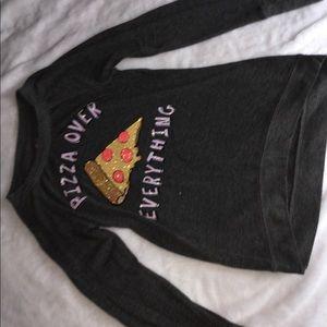 Girls Pizza Long Sleeve Shirt